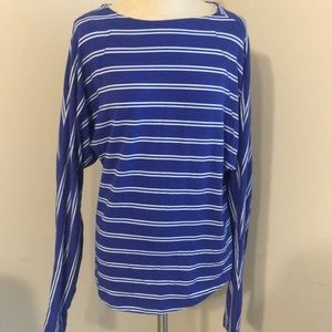 Striped open back Ardmore tee
